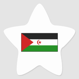 Sahrawi Arab Democratic Republic Flag Star Sticker