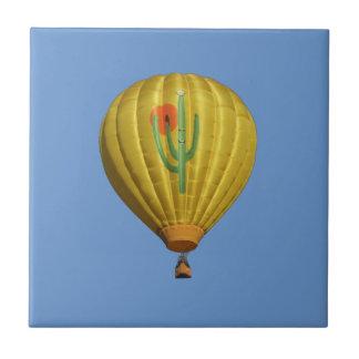 Sahuaro Sunrise Hot Air Balloon Tile