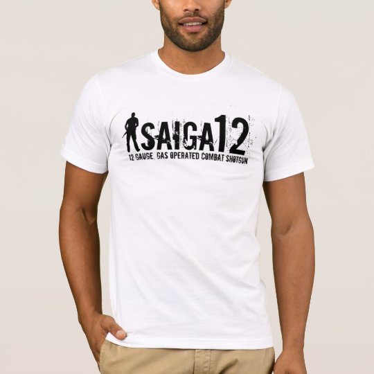 Saiga 12 - 12 Gauge, Gas Operated Combat Shotgun T-Shirt
