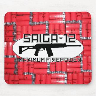 Saiga 12 - Maximum Firepower Mouse Pad
