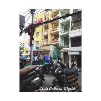 Saigon Street Scene Stretched Canvas Print