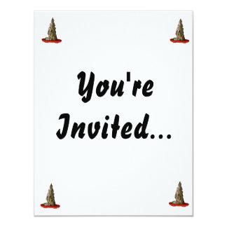 "Saikei Cliff in Red Pot Bonsai Graphic 4.25"" X 5.5"" Invitation Card"
