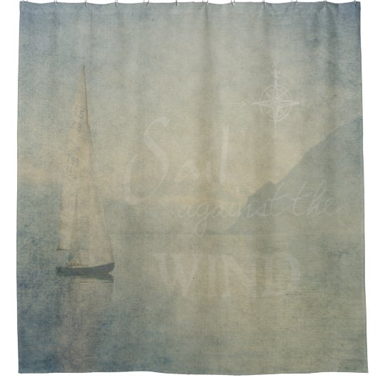 Sail Against The Wind Shower Curtain