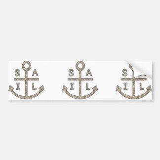 Sail Anchor Bumper Sticker