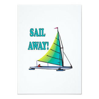 Sail Away 13 Cm X 18 Cm Invitation Card