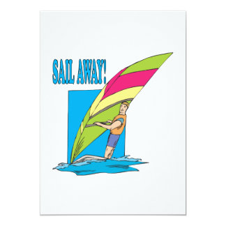 Sail Away 2 13 Cm X 18 Cm Invitation Card