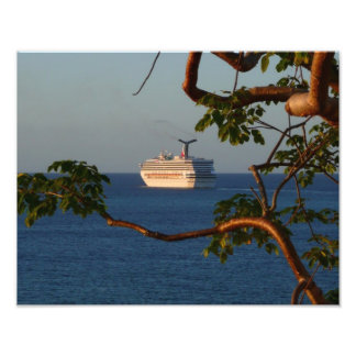 Sail Away at Sunset I Cruise Vacation Photography Photo