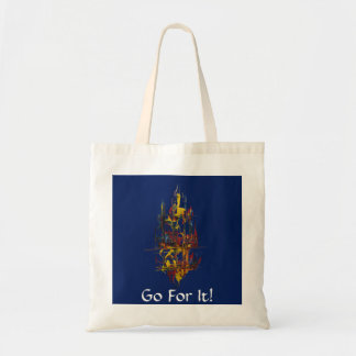 Sail Away-Go For It-Blue Budget Tote Bag