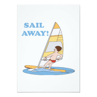 Sail Away 13 Cm X 18 Cm Invitation Card