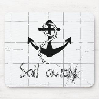 Sail away mouse pad