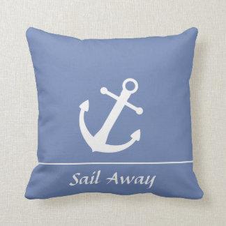 Sail Away Nautical Throw Pillow