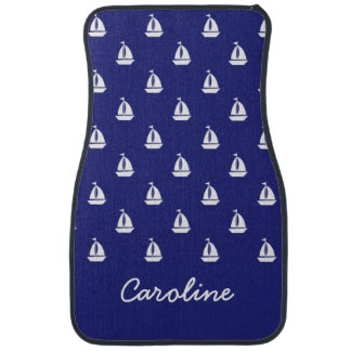 Sail Away on Blue Personalized Car Mats
