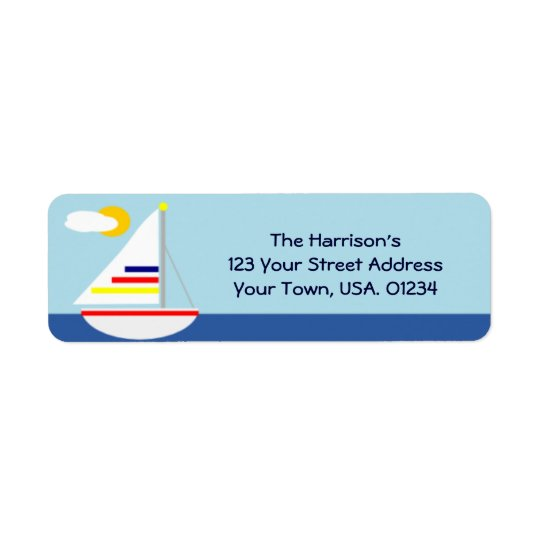 Sail Away Sail Boat Return Address Labels