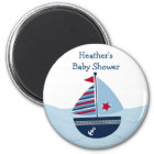 Sail Away Sailboat Baby Shower Favour Magnets