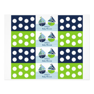 Sail Away Sailboat Nautical Water Bottle Labels Flyer
