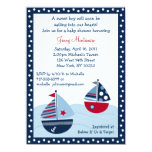 Sail Away Sailboat Ocean Baby Shower Invitations 11 Cm X 16 Cm Invitation Card