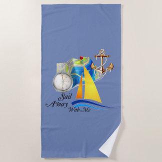 Sail Away With Me Beach Towel