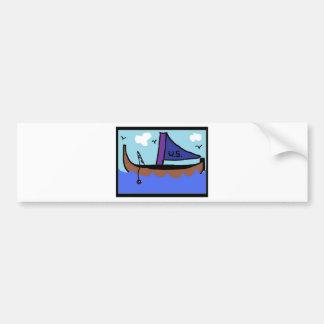 Sail Boat 2 Bumper Stickers