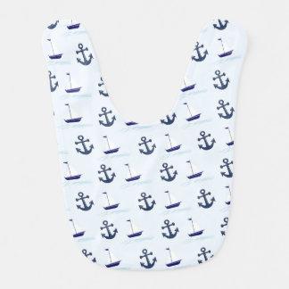 Sail Boat and Anchor Pattern Bib