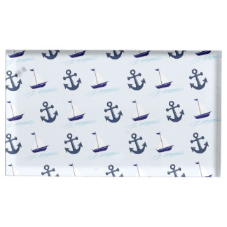 Sail Boat and Anchor Pattern Table Card Holder