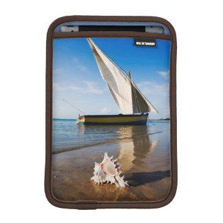 Sail Boat And Shell | Mozambique, Benguerra Lodge iPad Mini Sleeve