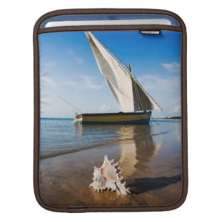 Sail Boat And Shell | Mozambique, Benguerra Lodge iPad Sleeve