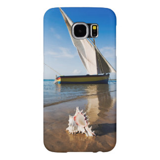 Sail Boat And Shell | Mozambique, Benguerra Lodge Samsung Galaxy S6 Cases