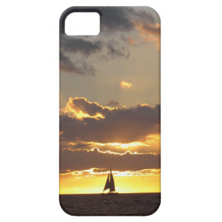 Sail boat at sunset iPhone 5 covers