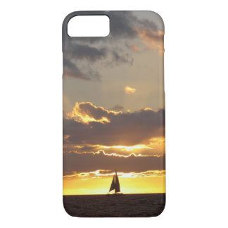 Sail boat at sunset iPhone 8/7 case