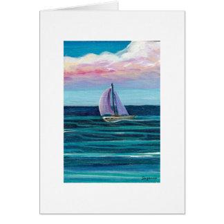 Sail Boat Card