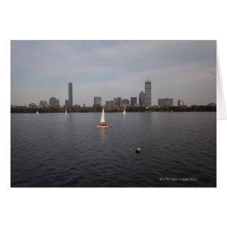 Sail Boat, Charles River, Boston, MA Card