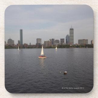 Sail Boat, Charles River, Boston, MA Drink Coaster