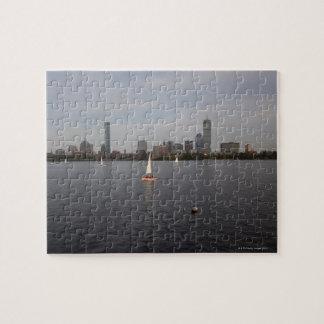 Sail Boat, Charles River, Boston, MA Jigsaw Puzzle