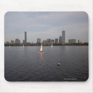 Sail Boat, Charles River, Boston, MA Mouse Pad