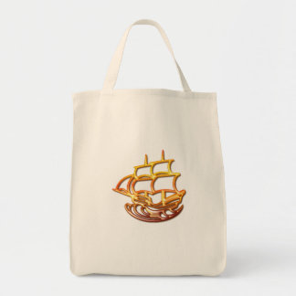 Sail Boat Grocery Bag