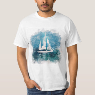 Sail Boat in Stormy Weather T-shirt