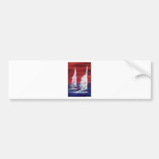sail boat ocean sailing bumper stickers