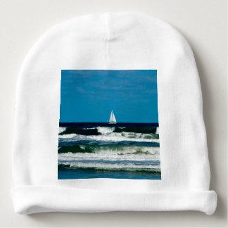 Sail Boat on the Ocean Baby Beanie