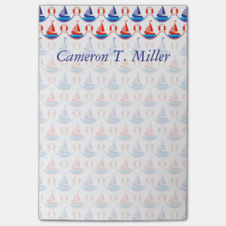 Sail Boat Pattern   Add Your Name Post-it Notes