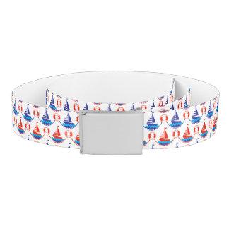 Sail Boat Pattern Belt