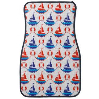 Sail Boat Pattern Car Mat