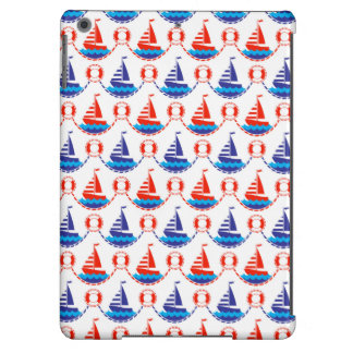 Sail Boat Pattern Cover For iPad Air