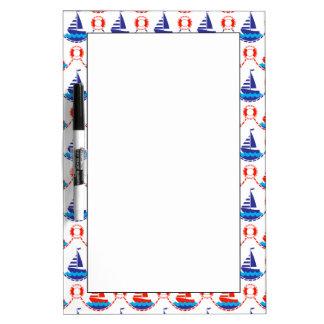 Sail Boat Pattern Dry Erase Board