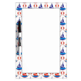 Sail Boat Pattern Dry Erase Whiteboards