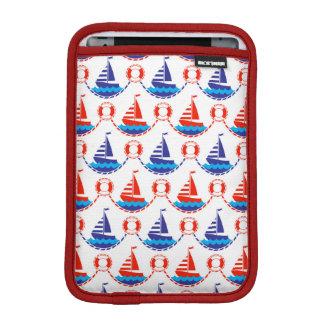 Sail Boat Pattern iPad Mini Sleeve