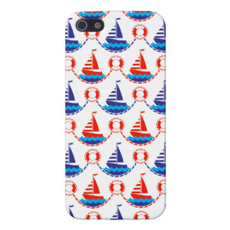 Sail Boat Pattern iPhone 5/5S Cases