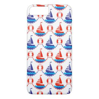 Sail Boat Pattern iPhone 8 Plus/7 Plus Case