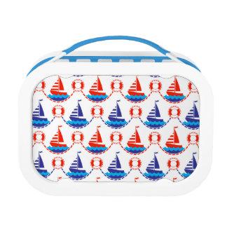 Sail Boat Pattern Lunch Box