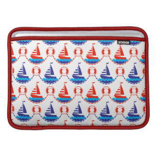 Sail Boat Pattern Sleeve For MacBook Air