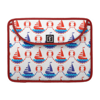 Sail Boat Pattern Sleeve For MacBooks